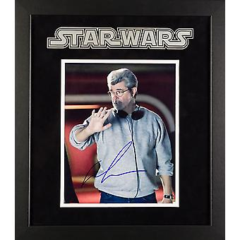 Star Wars - Signed George Lucas Movie Photo - Framed Artist Series