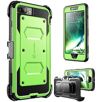 i-Blason-7 Plus caso iPhone, [Armorbox] construido en parachoques caso-verde