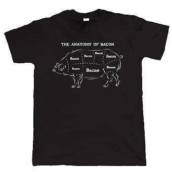 Vectorbomb, Anatomy Of Bacon, Mens Funny T-Shirt