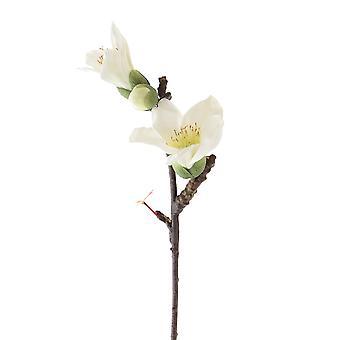 Saffronstem kunstige blomster - hvid Kapok Spray sæt af 3, fremstillet af Latex, virkelig røre og kigge