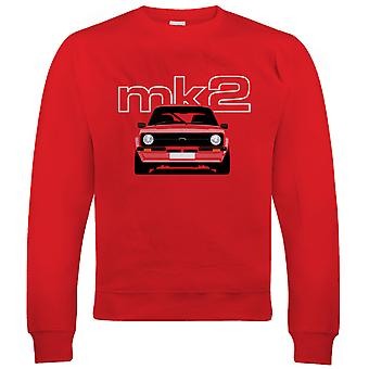 Mk2 Escort, Mens Classic Car Sweatshirt