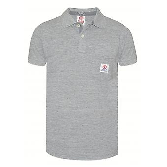 Franklin & Marshall Franklin & Marshall Mens Grey Polo Shirt