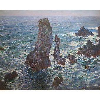Claude Monet - The Pyramids at Port Coton Poster Print Giclee