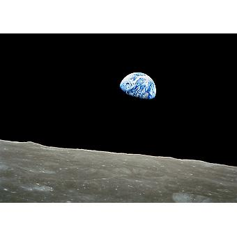 NASA - Apollo 8 Dec 24 Earthrise Poster Print Giclee