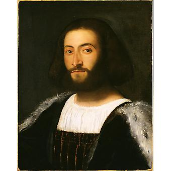 Titian - Portrait of a Man Poster Print Giclee
