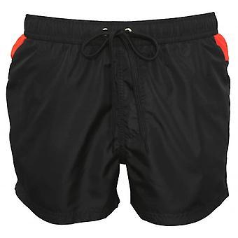Just Cavalli Reverse Logo Print Swimming Shorts, Black