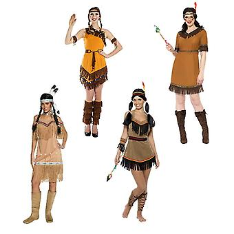 Indian Western Squaw ladies costume several designs Indian costume