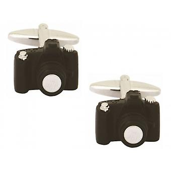 Zennor Camera Cufflinks - Black/Silver