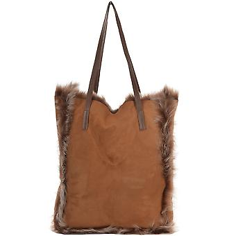 Ashwood Womens Toscana Sheepskin Leather Bag Whisky/brissa : Avian