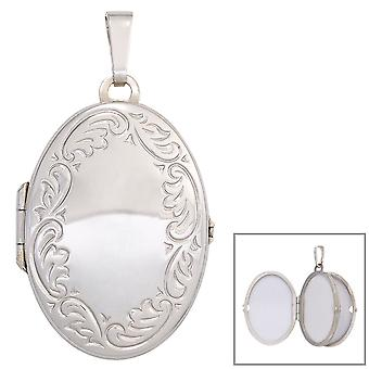 Medallion oval pendant 925 sterling silver rhodium plated for 4 photos pendant silver