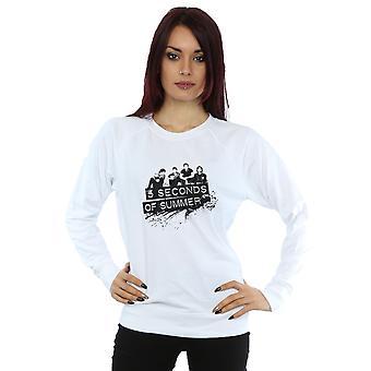 5 Seconds of Summer Women's Black Splatter Sweatshirt