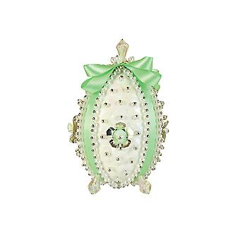 Pinflair Carnation Mint Green Faberge-Style Easter Egg Pin & Sequin Kit