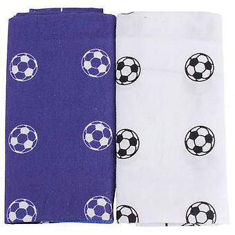 David Van Hagen Football Handkerchief Set - Blue/White
