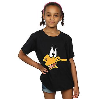 Looney Tunes Girls Daffy Duck Face T-Shirt