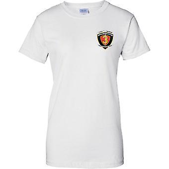 1r batallón 3ro infantes de Marina - USMC - insignias militares - señoras pecho diseño camiseta