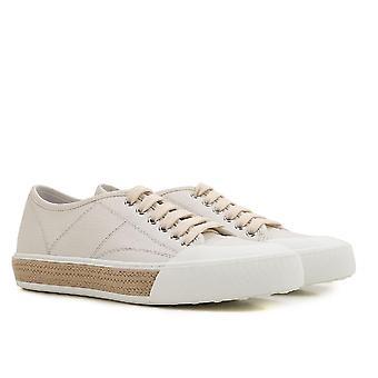 Tods kvinnors låga top sneakers i vitt läder