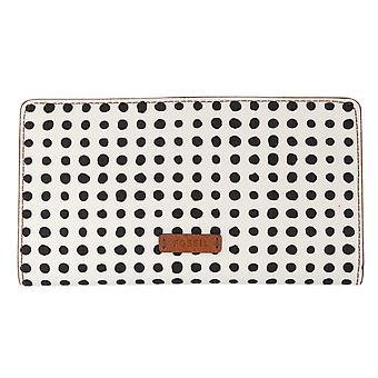 FOSSIL ladies wallet purse with RFID-chip protection white 6541