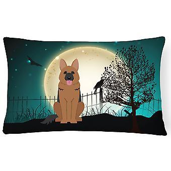 Halloween skummelt Tyskeren Shepherd lerret stoff Dekorative Pillow