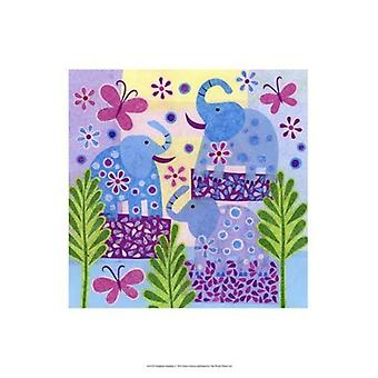 Elephant Sunshine Poster Print by Kim Conway (13 x 19)