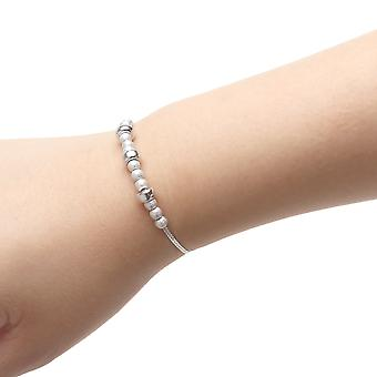 Sterling Silver Adjustable Bracelet with Beads and Elements, , 9 Inch