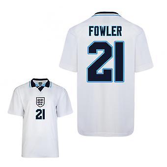 Score trekke England Euro 1996 hjem skjorte (Fowler 21)