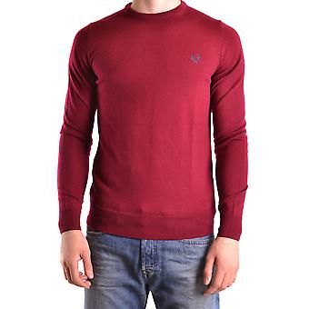 Fred Perry Herren MCBI128183O Rot Wolle Sweater