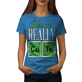 Cute Chemistry Geek Women Royal BlueT-shirt | Wellcoda