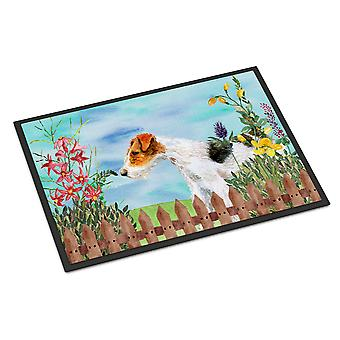 Carolines Treasures  CK1212MAT Fox Terrier Spring Indoor or Outdoor Mat 18x27