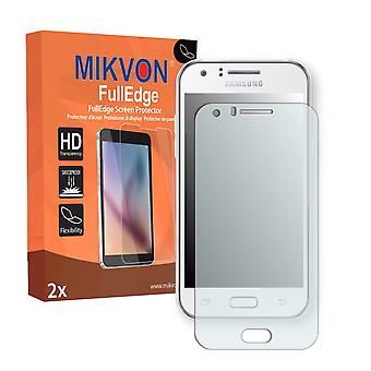 Samsung Galaxy J1 Duos (SM-J100F) screen protector - Mikvon FullEdge (screen protector with full protection and custom fit for the curved display)