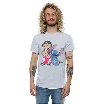 Disney мужчин Lilo & классические Lilo стежка & футболка строчки