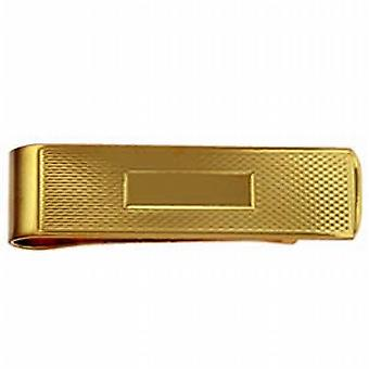 9ct Gold 15x52mm centre space engine turned Money Clip