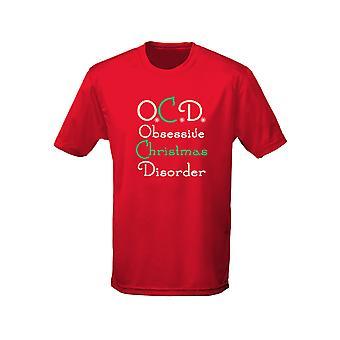 Disturbo ossessivo compulsivo ossessivo Natale disordine natale bambini Unisex t-shirt 8 colori (XS-XL) da swagwear