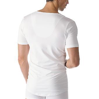 Mey 46098 Herren aus weißer Baumwolle mit V-Ausschnitt Kurzarm Top