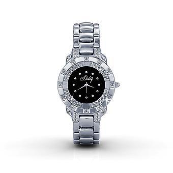 Black Watch in staal en Swarovski elementen Crystal