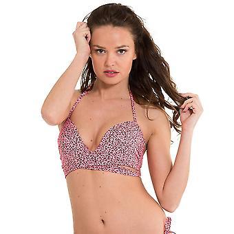 LingaDore 2917HB-155 Women's Festival Pink Animal Print Swimwear Beachwear Bikini Top