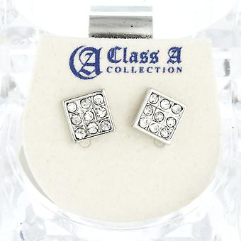 Iced Out Bling Ohrstecker Box - SQUARE