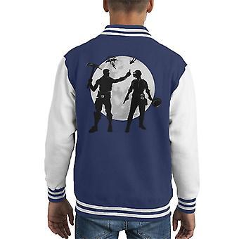 Fortnite Vs PUBG Kid's Varsity Jacket