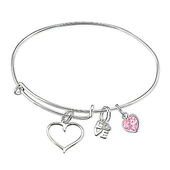 Appeso Love Charms - 925 Sterling Silver Bangles