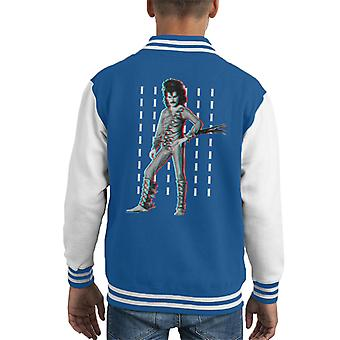 Freddie Mercury Of Queen Eye Costume 1984 Kid's Varsity Jacket