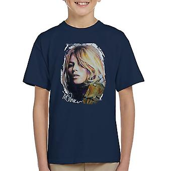Sidney Maurer Original Portrait Of Kate Moss Army Jacket Kid's T-Shirt