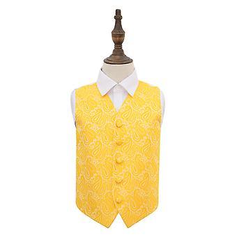 Goud Paisley bruiloft vest voor jongens