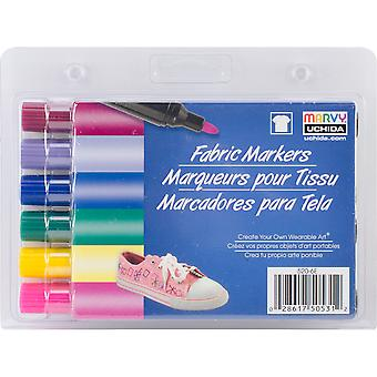 Fabric Markers Broad Tip 6/Pkg-Bright