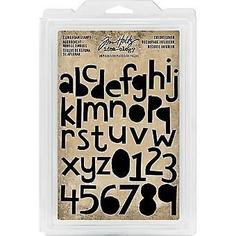 Idea-Ology Cling Foam Stamps 38/Pkg-Cutout Lowercase Alpha & Numbers 1