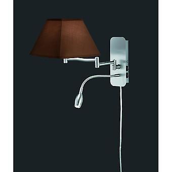 Trio Lighting Hotel Modern Nickel Matt Metal Wall Lamp