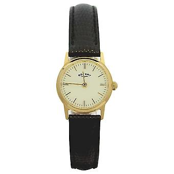 Rotary 9ct Gold Case Womens Leather Strap LS11476/03 Watch