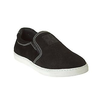 West Coast Choppers Black Outlaw Suede Slip On Shoe