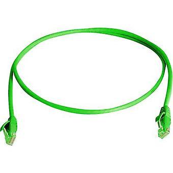 RJ45 Cable de redes CAT 5e U/UTP 5 m verde Telegärtner ignífugo, libre de halógenos
