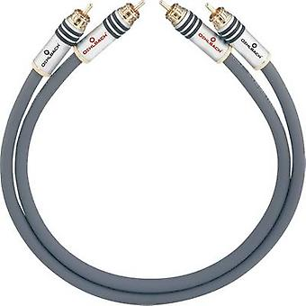 RCA audio/phono kabel [2x RCA plug (phono)-2x RCA plug (phono)] 3,25 m antraciet vergulde connectors Oehlbach NF 14 MASTER