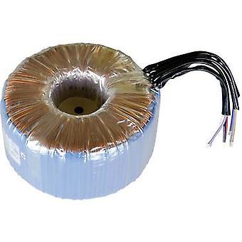 Toroidal core transformer 2 x 115 V 2 x 30 V AC 1000 VA 16.67 A 825072 Sedlbauer