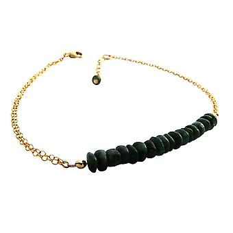 Gemshine - ladies - bracelet - gold plated - emerald - green - CONFETTI